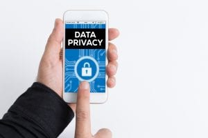 Cell phone locked for data and social media privacy